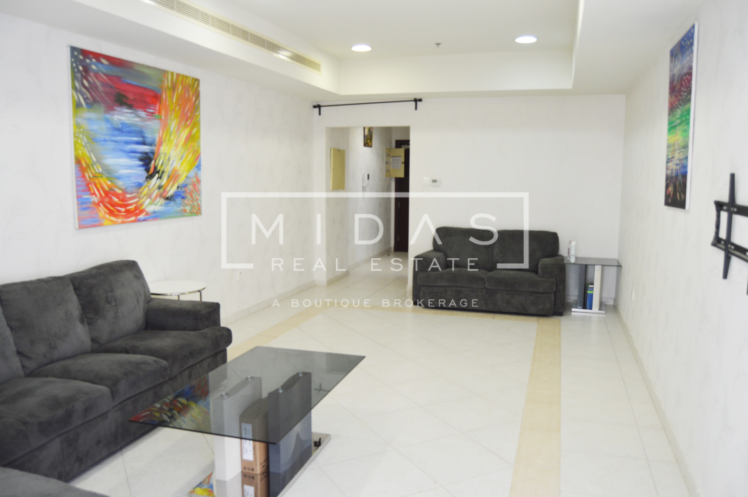 2BR Mid Floor | Partial Sea View | Vacant