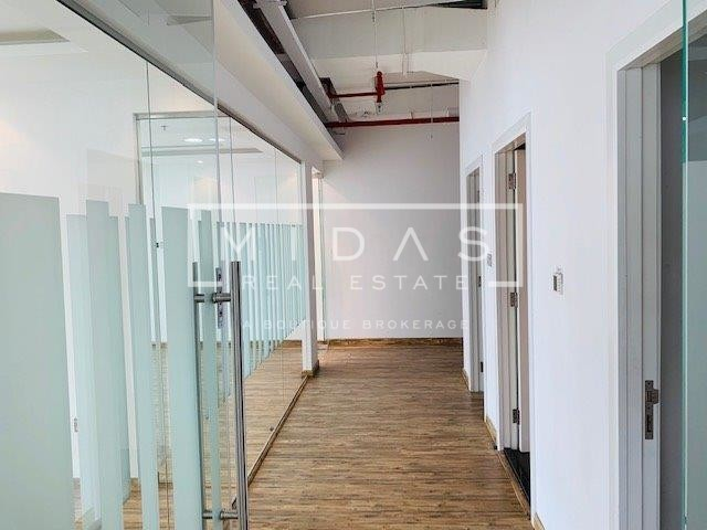 Fitted with Partition Office in Barsha Heights w/ City and Sea View