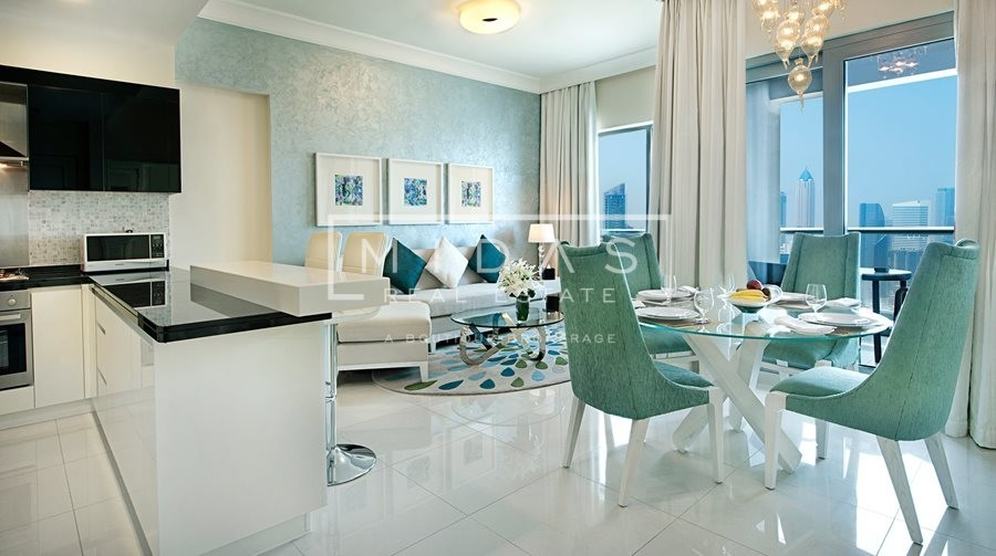 Luxurious 1BR Fully Serviced Hotel Apartments by Maison Damac Mall Street