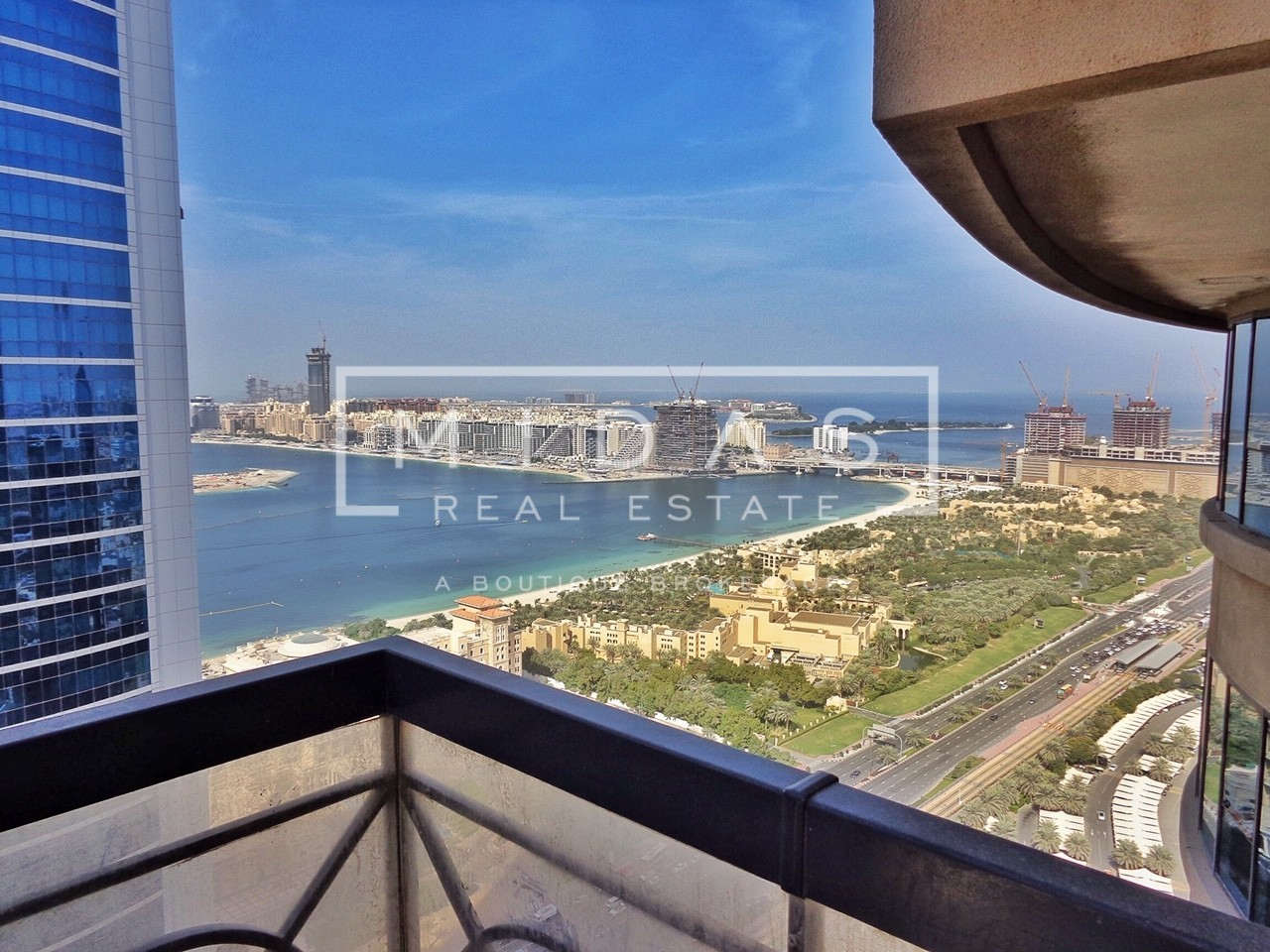 Upgraded & Furnished 3 BR with Palm Sea View
