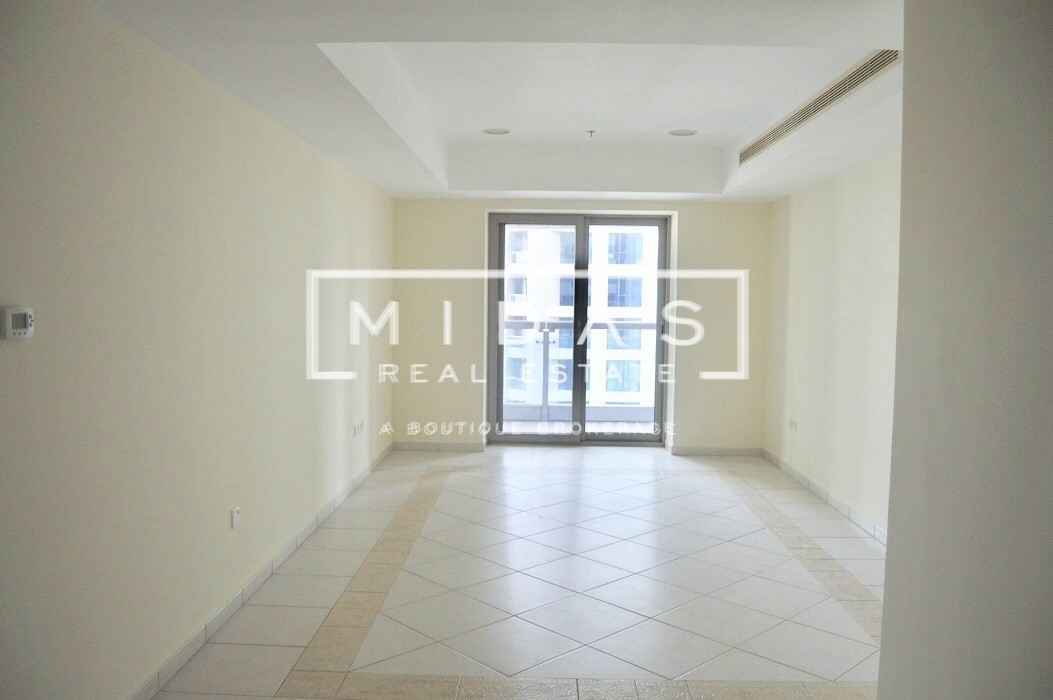 1 Bedroom unfurnished w/ Marina Community View For Rent