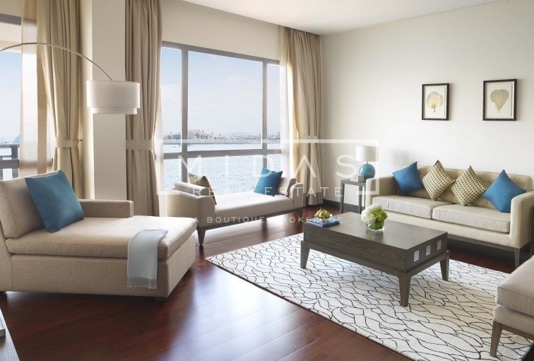 Furnished 1BR w/ Sea Views in Palm Jumeirah