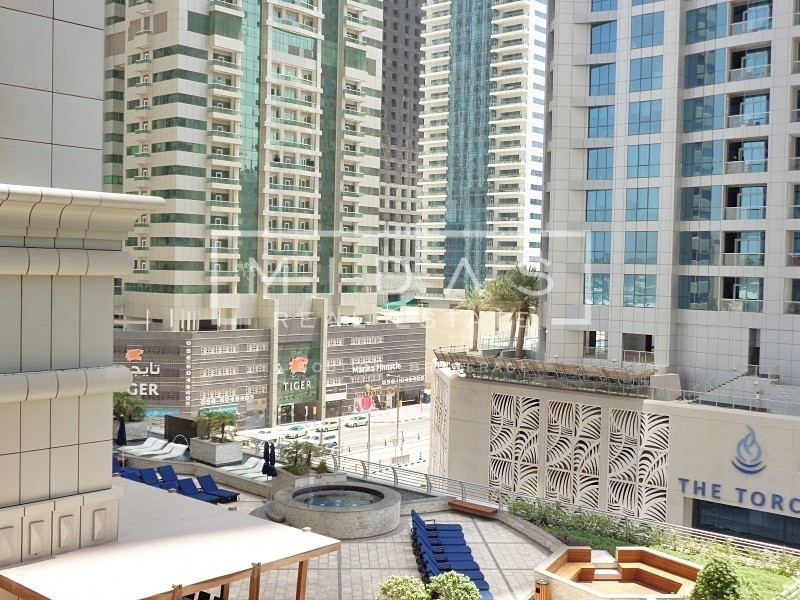 Best Priced! Huge 2BR + Maids w/ Sea View