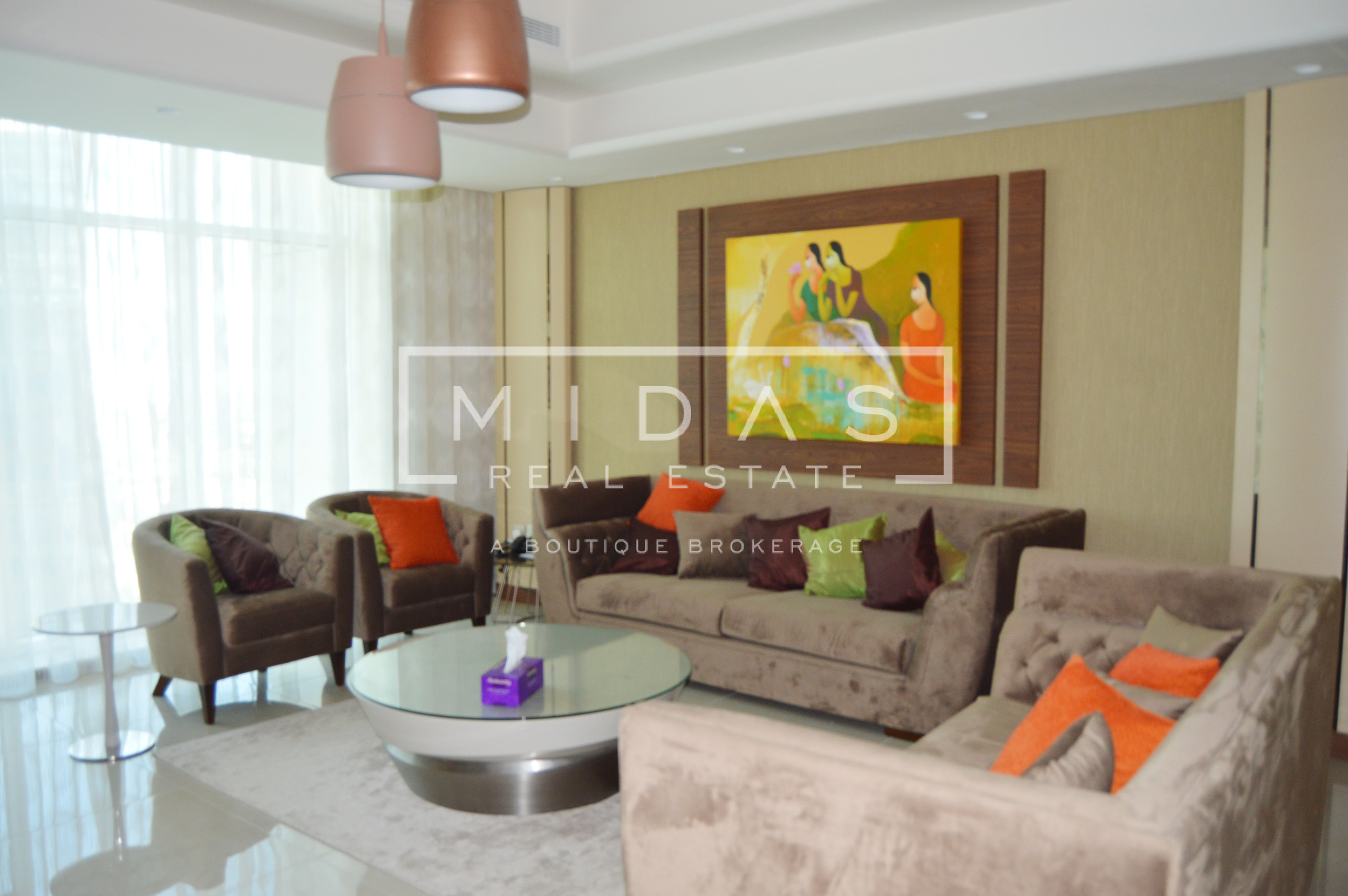 Furnished 2BR+Maids | Stunning Lake View | Large Balcony