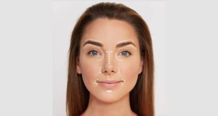 Highlight layer of foundation over face