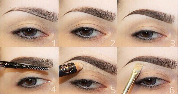 angled eyebrow