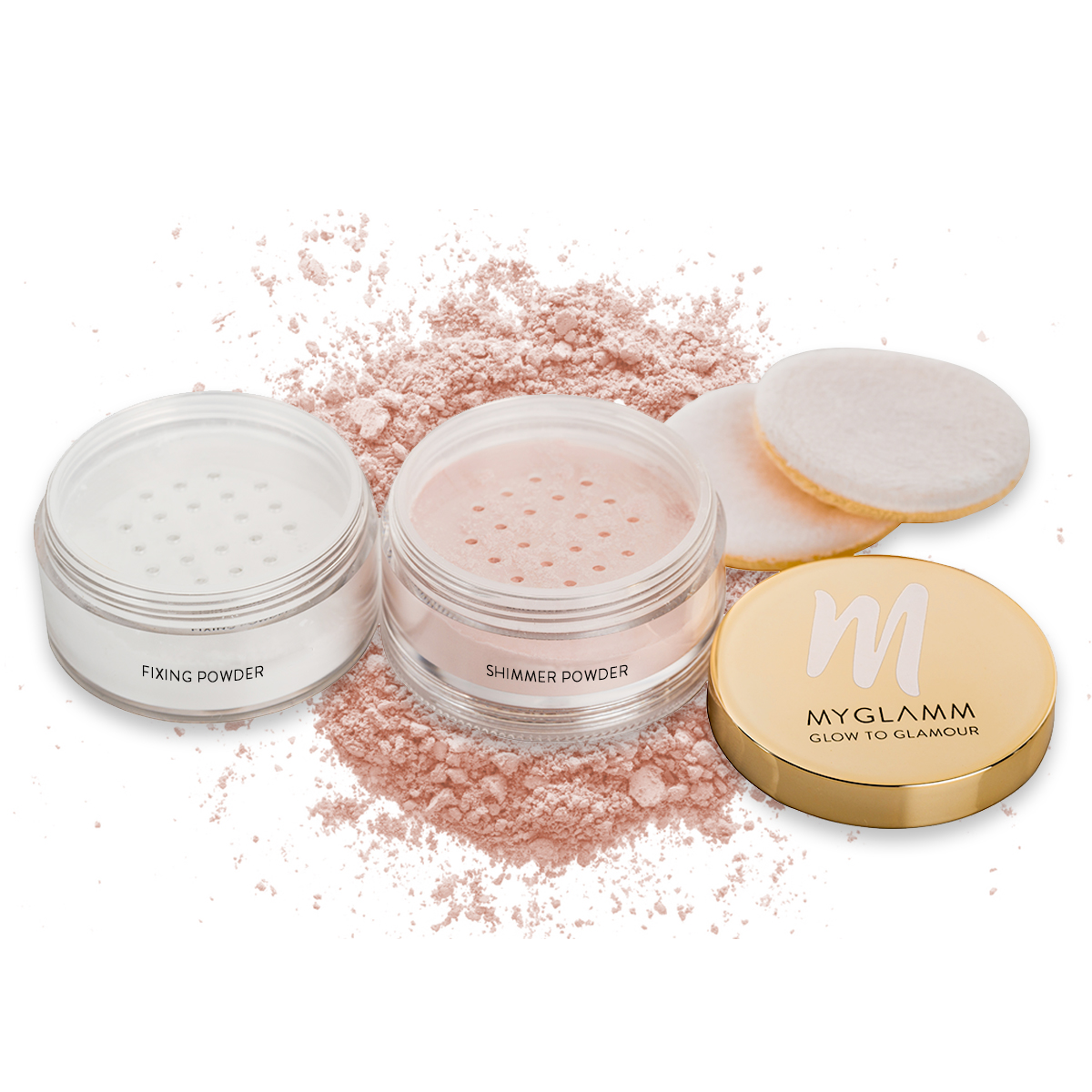 2 in 1 Shimmer + Fixing Powder
