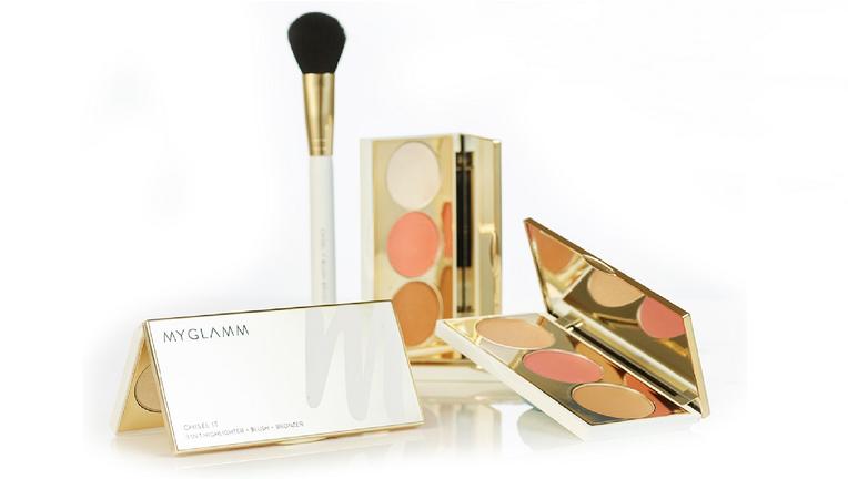 Chisel It  Face Highlighter Blush Bronzer Palette