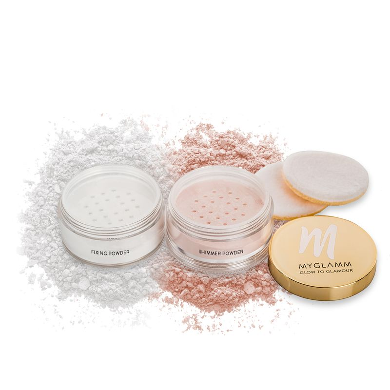 Glow to Glamour  Highlighter and fixing powder for Face