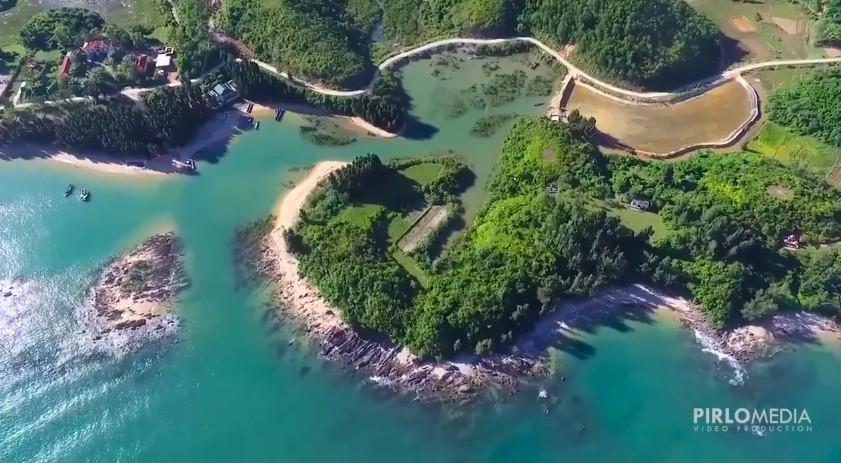 Đảo Cái Chiên đẹp nao lòng qua những thước ảnh flycam