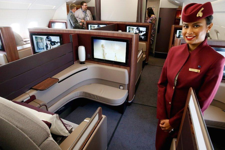Hạng nhất của Qatar Airway có giá 5.000 USD/chiều