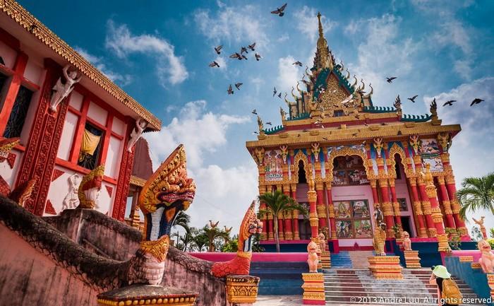 Chùa Xiêm Cán tiêu biểu cho vẻ đẹp Khmer