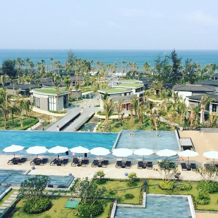 Sắc xanh ngập tràn khuôn viên resort- Ảnh: ydhyun1004