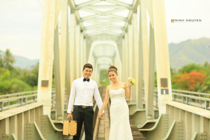 Vẻ đẹp hoài cổ ở cầu sắt Nha Trang - Ảnh: Minh Nguyễn Studio