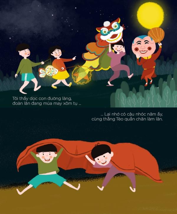 Về với những trò chơi ngày ấy: Rước đèn, chơi hội, múa lân, đi loanh quanh khắp xóm...