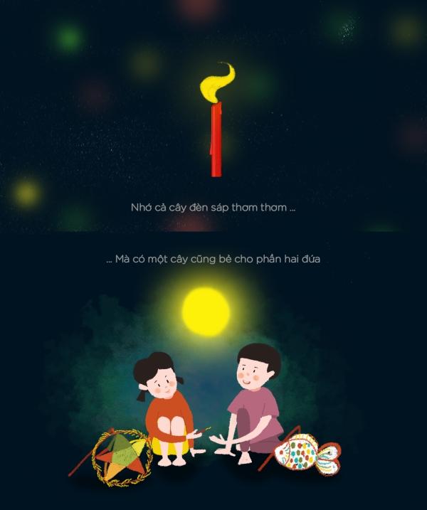 Tình bạn khi ấy cũng thật đơn giản, chia cho nhau cây đèn sáp để đèn lồng cả hai đứa cùng sáng, chia nhau miếng bánh bà cho rồi cả hai đứa cùng cười khúc khích.