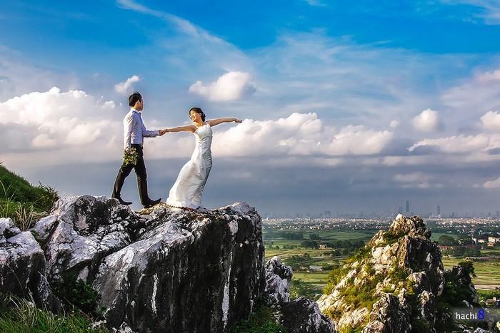 Núi Trầm lưu giữ khoảnh khắc khó quên của đôi lứa