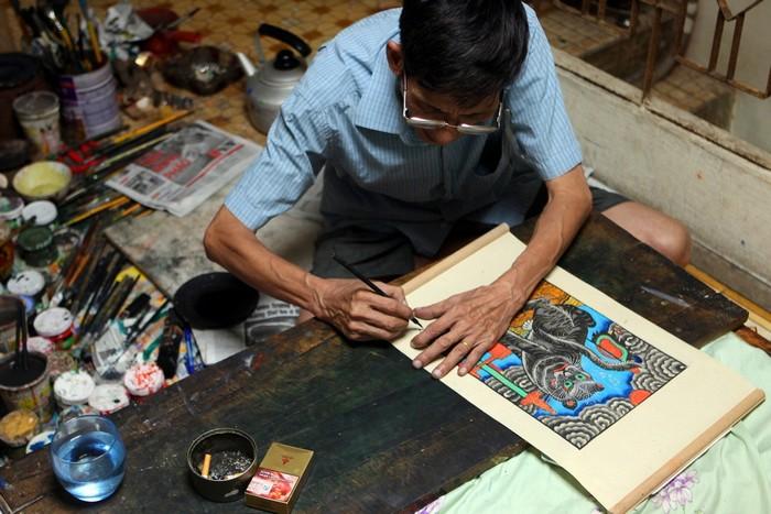Nét vẽ tỉ mỉ của người nghệ nhân