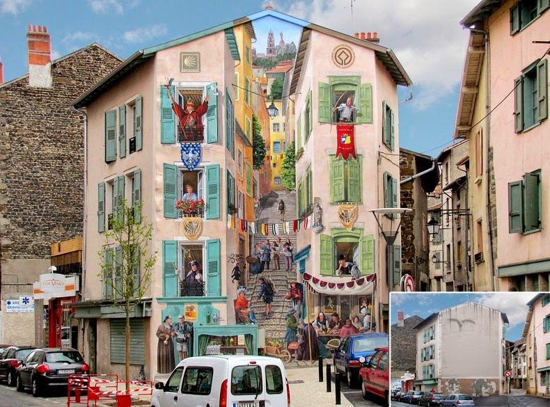 Một kiệt tác được Patrick và cộng sự sáng tạo nên ở thị trấn Le Puy-en-Velay thuộc tỉnh Haute-Loire, ở vùng trung nam nước Pháp, gần sông Loire. Nơi đây nổi tiếng trên khắp thế giới nhờ các nhà thờ, đậu lăng và đăng ten.