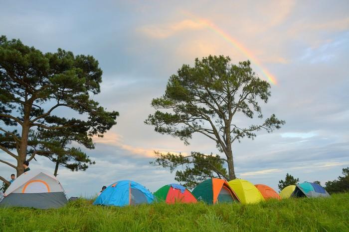Cắm trại trên ngọn đồi bao la: