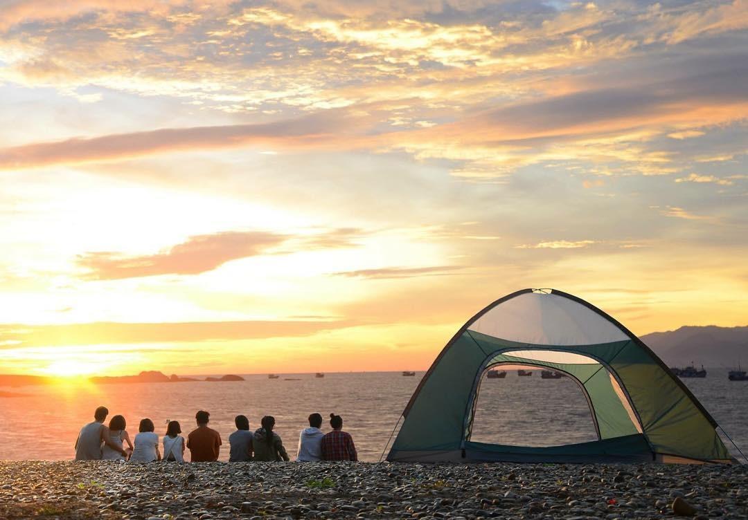 Cắm trại ngắm biển cù lao Câu