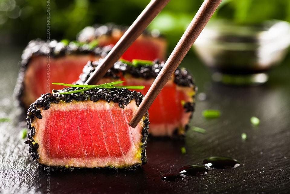 Sushi cá ngừ ở Nhật