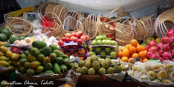Những màu sắc trái cây ở chợ