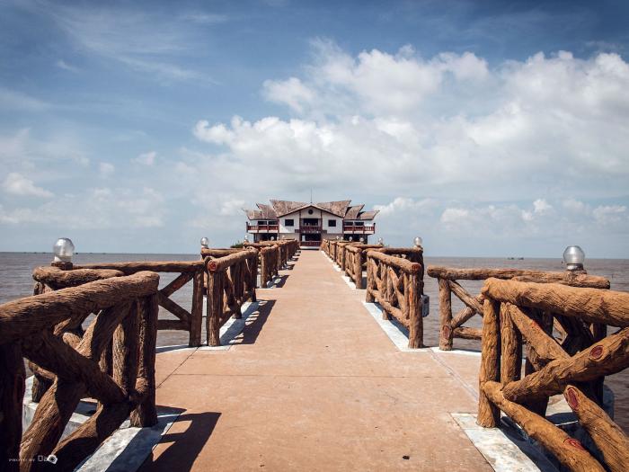 Đường vào resort cũng chất không kém - Ảnh: Nguyễn Văn Đạo