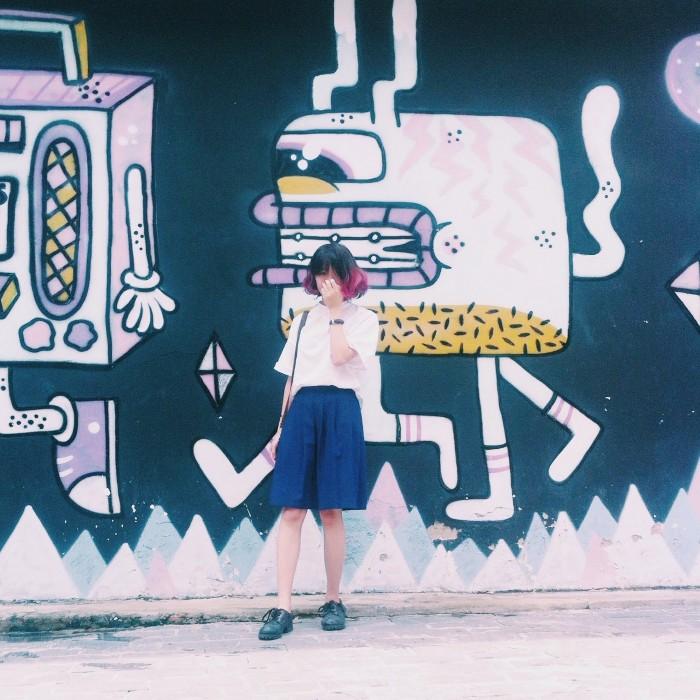 Background chụp ảnh chất lừ cho các bạn trẻ - Ảnh: Huyền Vịt