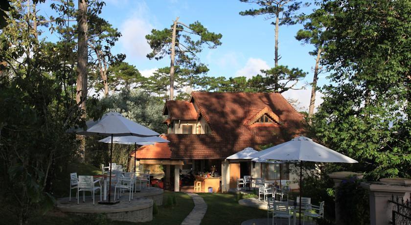 Zen cafe & Villa nằm trong không gian xanh của những tán thông rừng