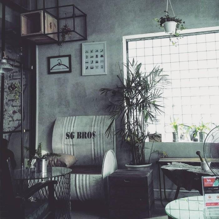 Không gian đâm chất Vintage tại SG Bros - Ảnh: @phuong.free