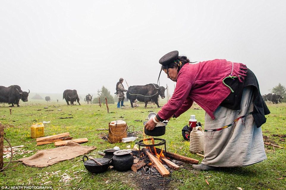 Bò yak cũng đóng vai trò quan trọng trong khẩu phần ăn của người Brokpa,. Không chỉ lấy thịt, họ còn vắt sữa để uống. Họ có thể uống cả chục cốc trà (làm từ bơ sữa bò yak) hàng ngày.