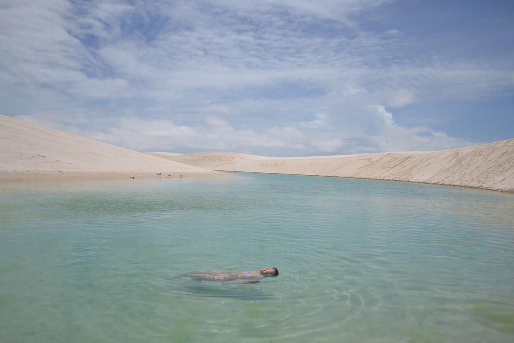 Trôi tự do cùng dòng nước trong xanh