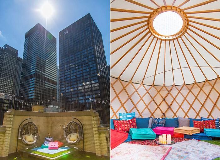 Nếu du khách không thích ngủ ở bên ngoài trời, hoặc muốn riêng tư hơn có thể lựa chọn ngủ ở trong lều có mái che.