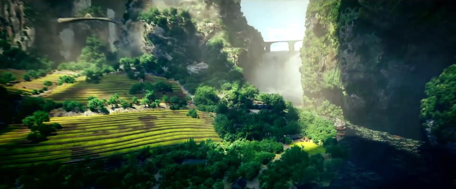 Và những núi đá vôi hùng vỹ bao quanh dòng sông êm dịu