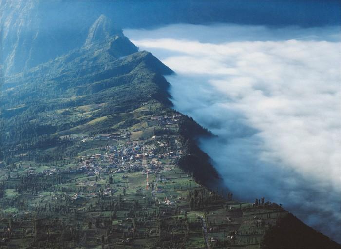 Ngôi làng nằm gần biển mây...