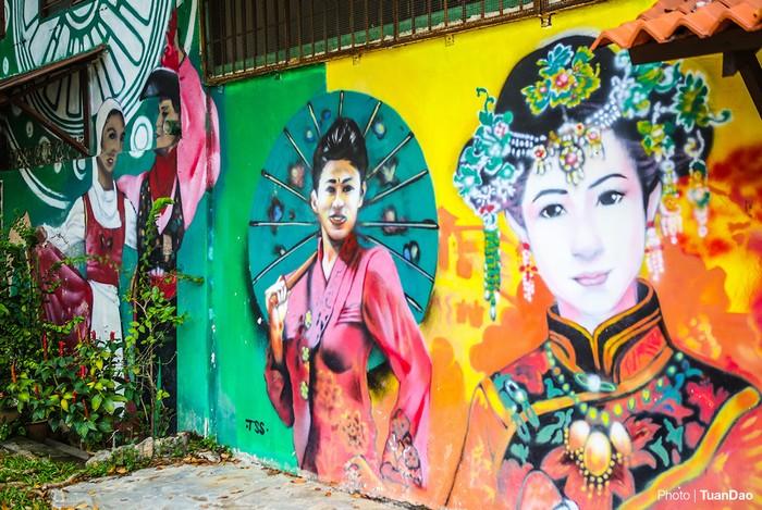 Sắc màu văn hóa Trung Hoa ở một góc thành phố cổ Malacca.