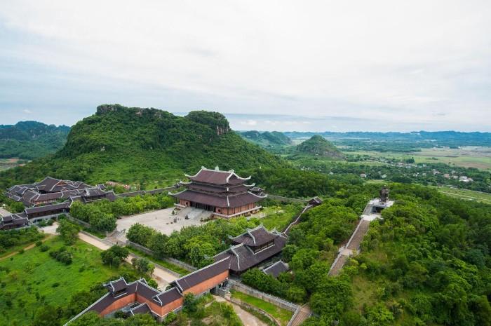 Không gian chùa Bái Đính nhìn từ trên cao - Ảnh: Koan De Geus