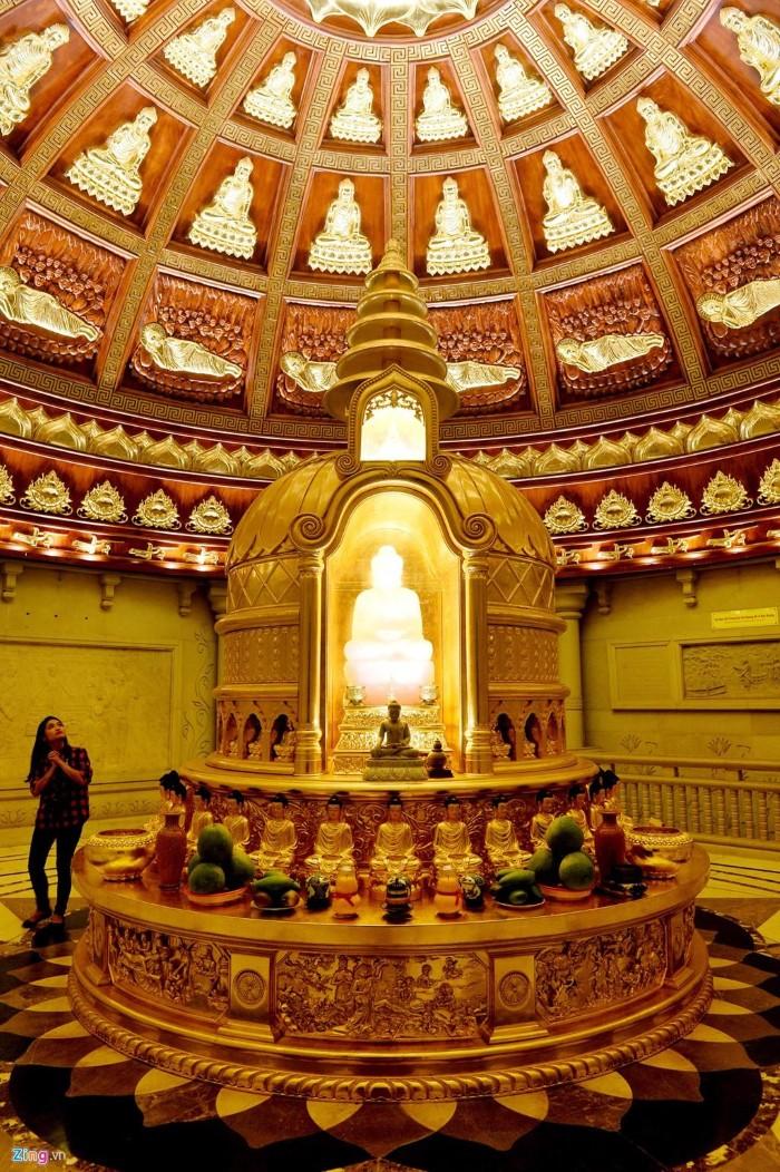 Tháp Xá lợi – nơi lưu giữ xá lợi của Đức Phật Thích Ca Mâu Ni - Ảnh: Hoàng Hà – Zing News