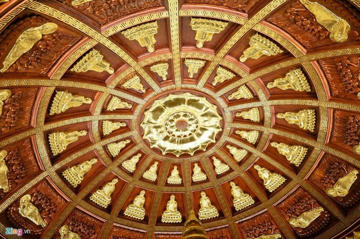 Mái vòm bảo tháp mang đậm dấu ấn văn hóa Phật giáo Ấn Độ - Ảnh: Hoàng Hà – Zing News