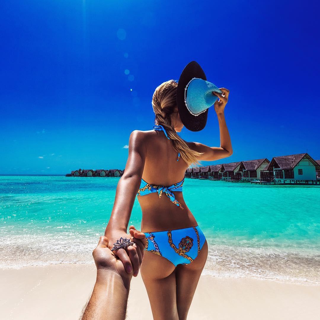 Nàng sexy hết cỡ ở Maldives
