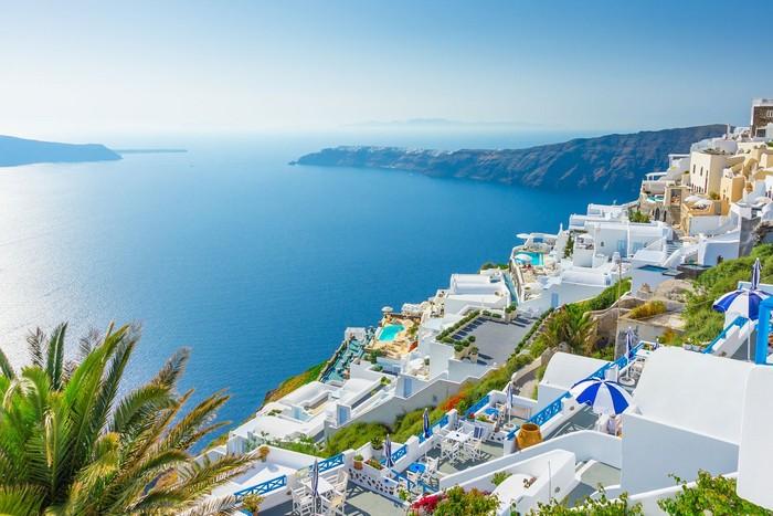 Màu xanh đặc trưng ở Santorini