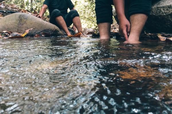 Suối trên đường trekking