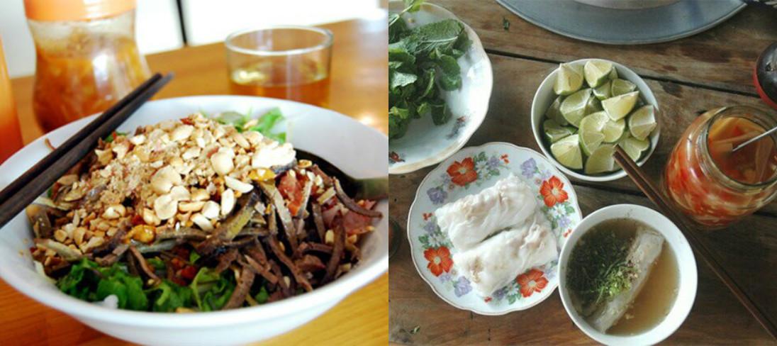 Bánh cuốn nước xương và phở chua là món ăn khá đặc biệt ở Cao Bằng