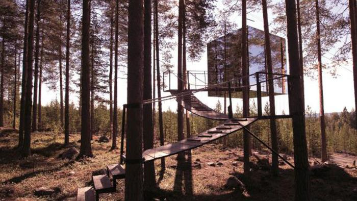 Nhà Gương, khách sạn Tree House, Harads, Thụy Điển