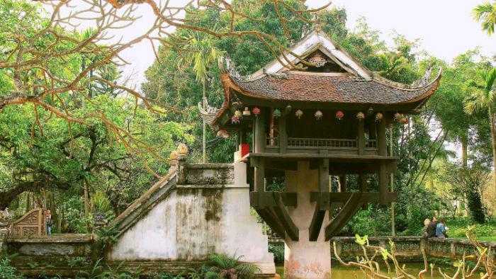 Chùa Một Cột với kiến trúc độc đáo