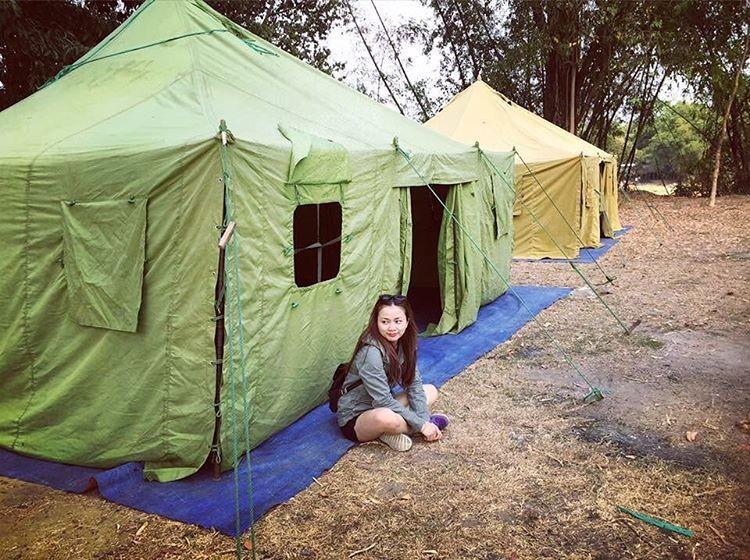 Ngủ lều trong rừng Nam Cát Tiên