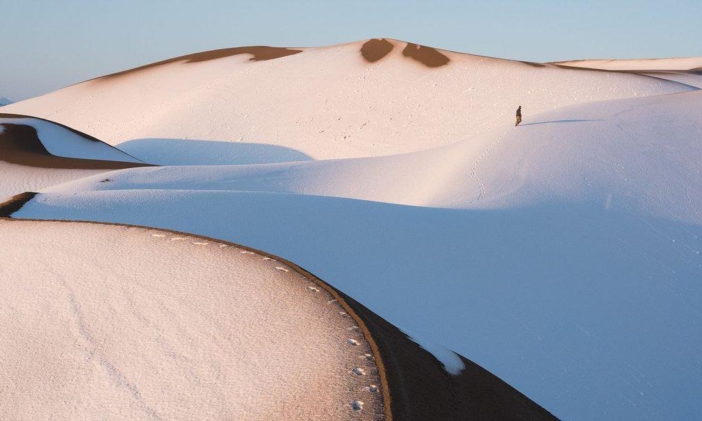 Sa mạc Maranjab rộng dài như bất tận nằm ở phía bắc thành phố Aran Bidgol, tỉnh Isfahan.