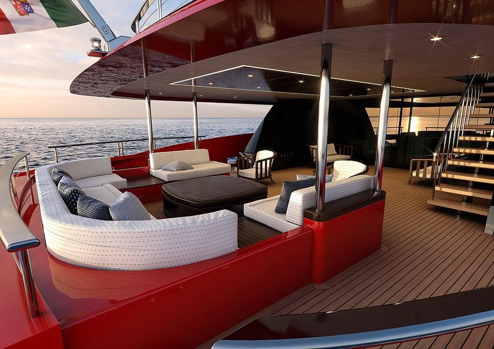 Tàu Mondomarine M50 dài 49,1 m và 5 cabin phòng ngủ rộng lớn.