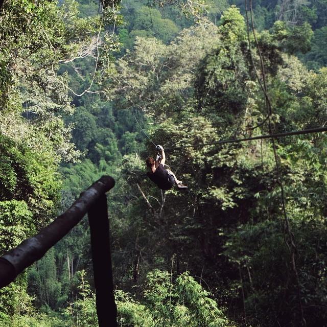 Zipline xuyên rừng